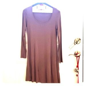 Mauve trapeze dress from Charlotte Russe